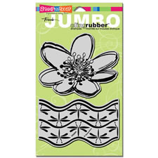 Water Lily Jumbo Cling Rubber Stamp Set