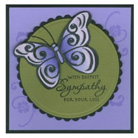 Butterfly Pair Jumbo Cling Rubber Stamp Project Idea