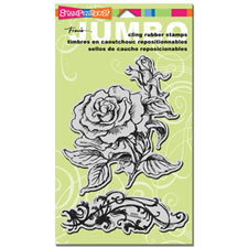 Cottage Rose Jumbo Cling Stamp