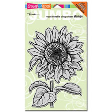 Sunflower Jumbo Cling Rubber Stamp