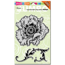 Poppy Jumbo Cling Rubber Stamp