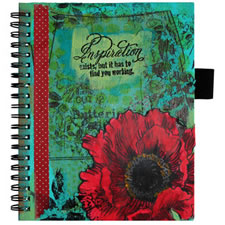 Poppy Jumbo Rubber Stamp Scrapbook Cover