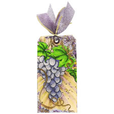 Grape Wine Bottle Gift Tag