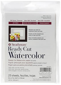 Strathmore Ready-Cut Watercolor Paper Packs