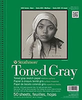 Strathmore Toned Sketch Paper Pad - Toned Gray