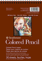 Strathmore 400 Series Colored Pencil Paper, Spiral Bound