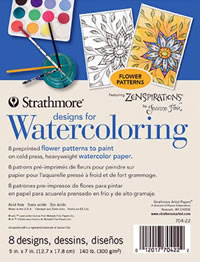 Strathmore Designs for Watercoloring - Flower Designs