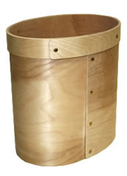 Bentwood Oval Wastebasket Bucket by Hofcraft