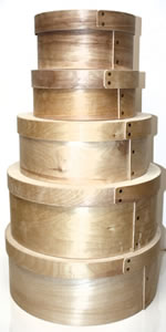 Round Bentwood Cheese Boxes