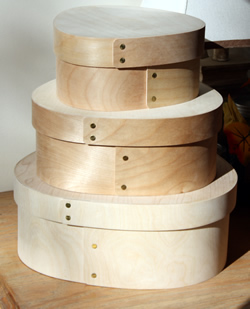 Bentwood Wedgewood Boxes Set of 3