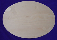 Oval Cut Wood Placemat