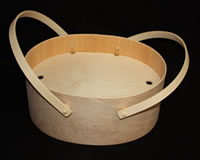 Deep Oval Bentwood Carry-All with Fitted Lid