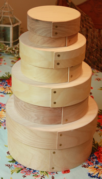 Round Museum Bride's Boxes Stacking Set