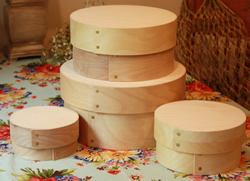 Bentwood Shaker Style Stacking Hat and Cheese Boxes - Bride's Boxes, Gift Boxes