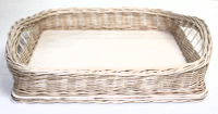 "10"" Square Wicker/Birch Tray with Handles"