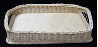 "Rectangle Wicker/Birch Tray 9"" x 13"""
