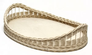 Large Schroon Lake Wicker Tray