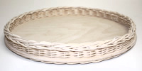 "12"" Round Shorty Wicker Tray"