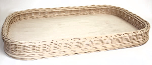 Rectangle Wicker Tray Without Handles
