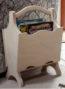 Michigan Magazine Rack - Wooden Magazine Rack