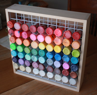Wooden Craft Paint Storage Rack
