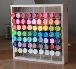 Wood Craft Paint Storage Rack