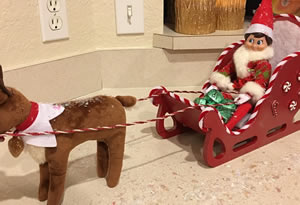 Santa's Sleigh for Elf on a Shelf