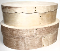 Bentwood Super-Oval Scalloped Hat Boxes