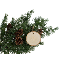 Basswood Country Round Ornament, Walnut Hollow
