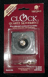 "Walnut Hollow 3/4"" Clock Movement with Hands"