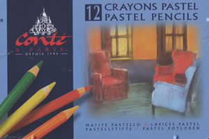 12 Crayons Pastel Pencils