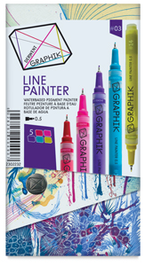 No. 3 Graphik Line Painters, Set of 5