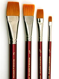 Winsor and Newton Flat Brushes