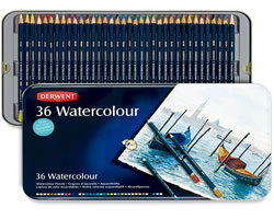 36 Piece Derwent Watercolour Pencil Set