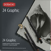 Derwent Graphic Pencil Set, 24 Piece