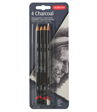 Derwent Set of Four Charcoal Pencils
