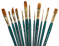 Winsor and Newton Regency Gold Series 500 Short Handle Brushes