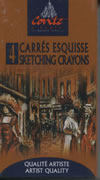 4 Carres Esquisse Sketching Crayons