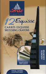12 Carres Esquisse Sketching Crayons