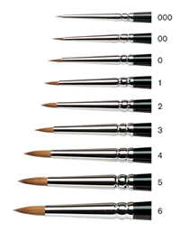 Winsor and Newton Series 7 Kolinsky Miniature Painting Brushes