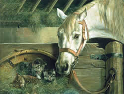 Horse and Kittens Reeves Artists Collection Paint by Number