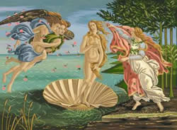 The Birth of Venus, Artists Collection Paint by Numbers
