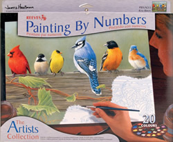 Reeves Railbirds Paint by Number Set