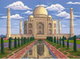 Taj Mahal, Reeves Painting by Numbers