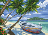 Tropical Beach, Reeves Paint by Number
