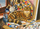 The Artist's Cat, Reeves Paint by Number