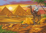 Egyptian Desert, Painting by Numbers