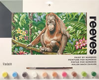 Orangutan, Reeves Paint by Number Set