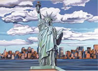 Statue of Liberty Paint by Number