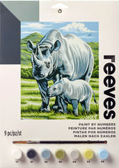 Black Rhino, Reeves Medium Paint by Number Set